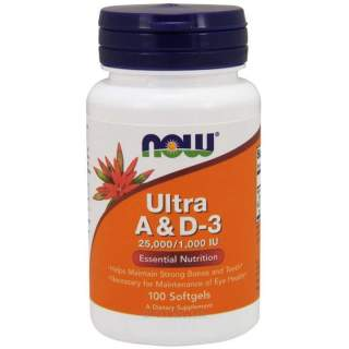 Ultra A & D-3 25000/1000 100 softgels